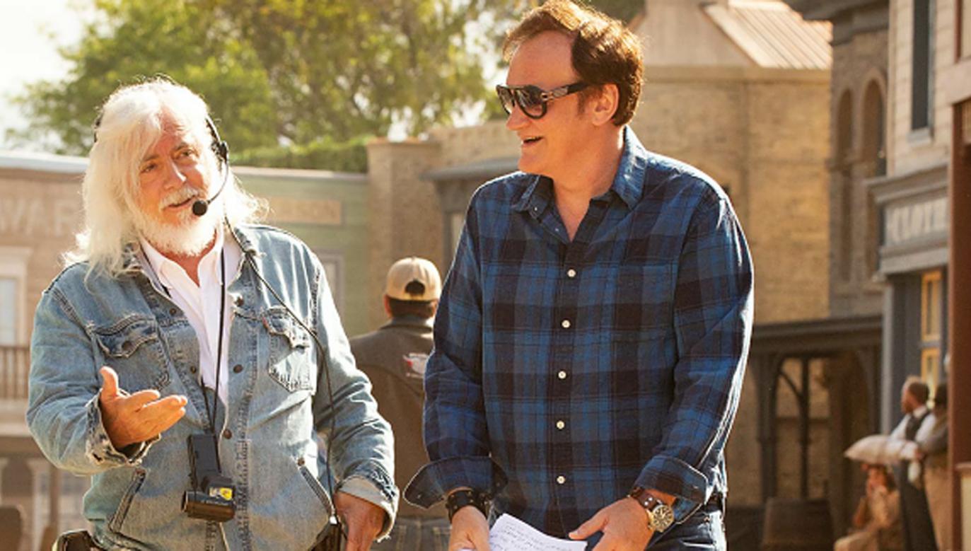 Quentin Tarantino (P)   i Robert Richardson (L) odebrali nagrodę Camerimage  (fot. materiały prasowe)