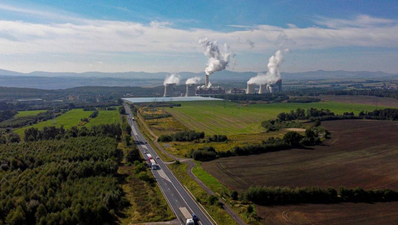 Tereny Elektrowni Turów w Bogatyni (fot. PAP/Aleksander Koźmiński)
