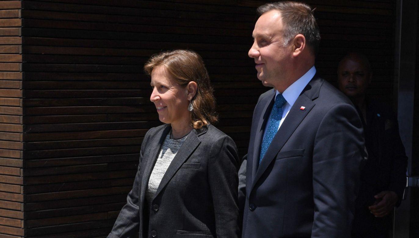 Prezydent Andrzej Duda rozmawiał m.in. z prezes YouTube'a Susan Wojcicki (fot. PAP/Radek Pietruszka)