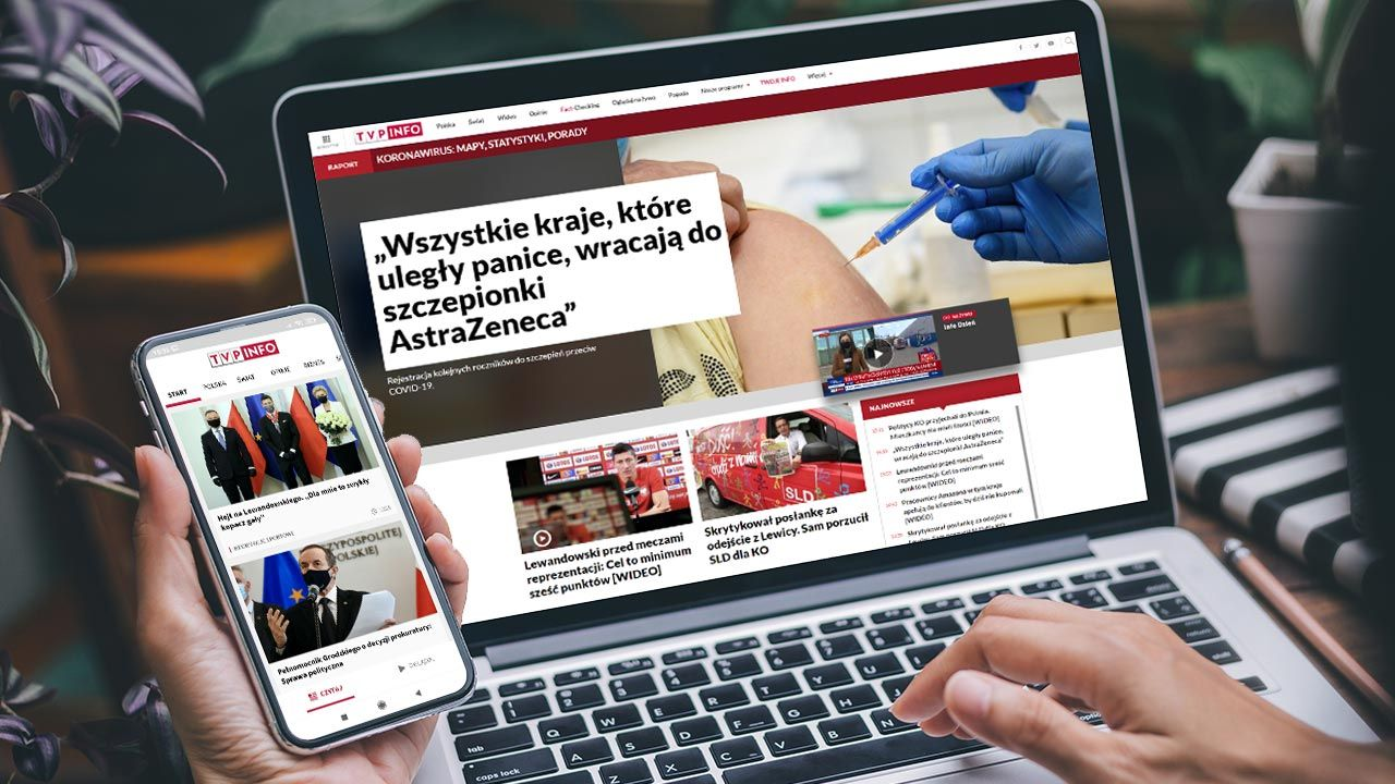 Coraz większa popularność portalu tvp.info (fot. Shutterstock/panitanphoto)
