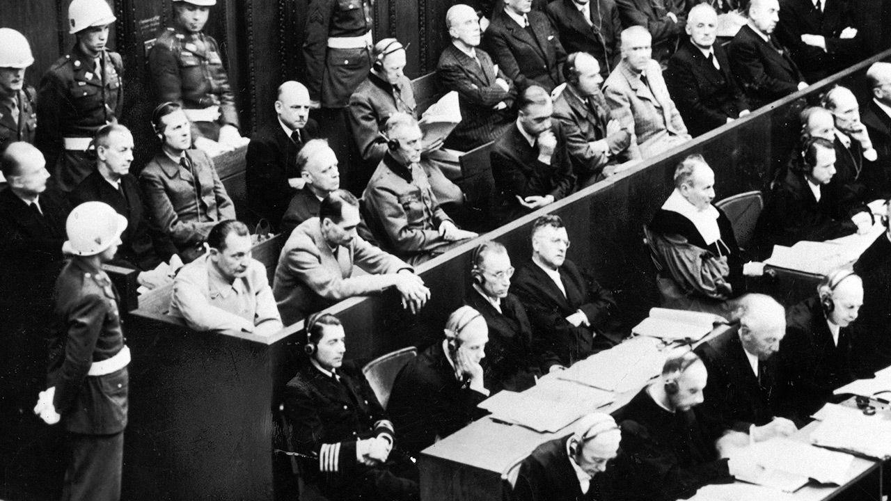 Proces niemieckich nazistów w Norymberdze (fot. British Combine/British Combine/The LIFE Picture Collection via Getty Images)