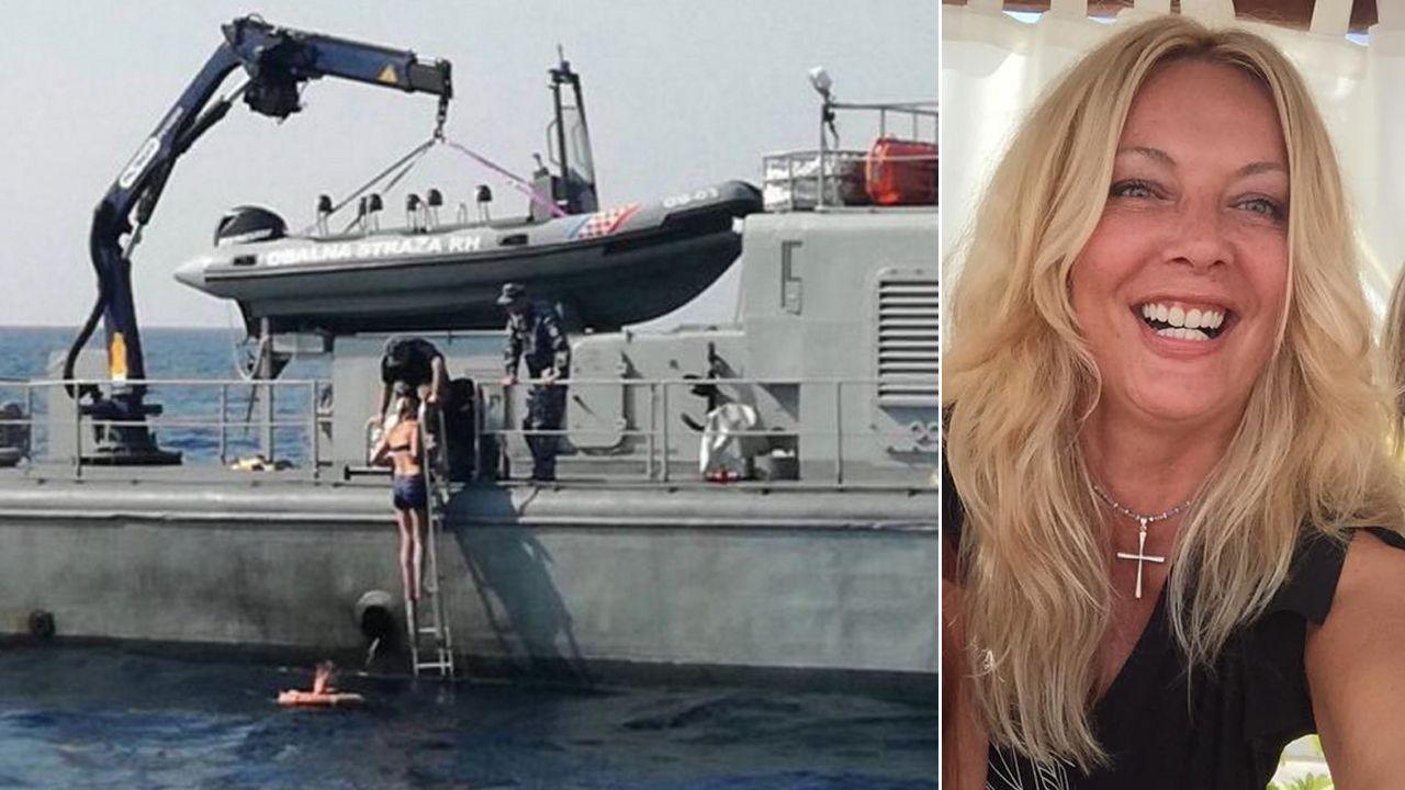 46-letnia Brytyjka została uratowana, po tym jak wypadła ze statku wycieczkowego w Chorwacji (fot. mohr.hr/FB/Kay Longstaff)