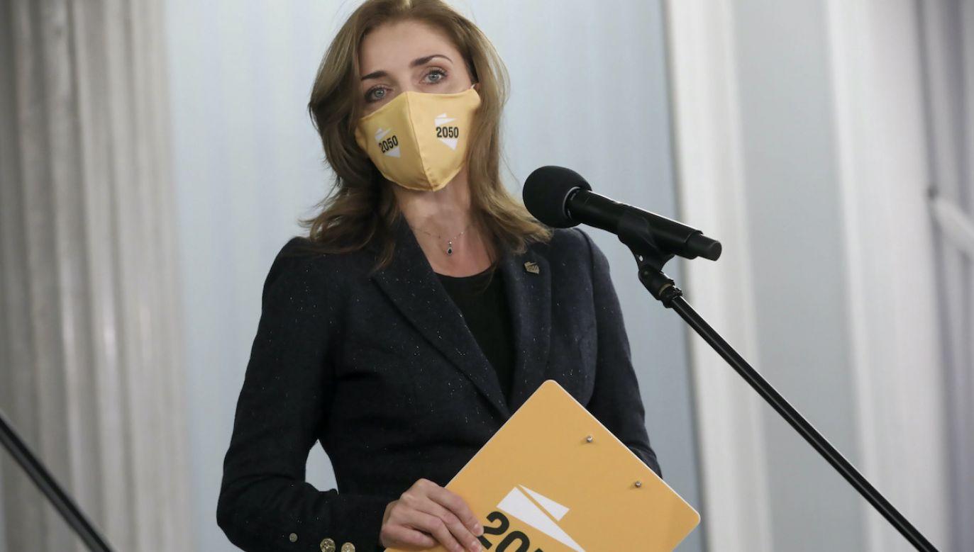 Mucha skrytykowała swoją partię-matkę (fot. PAP/Wojciech Olkuśnik)