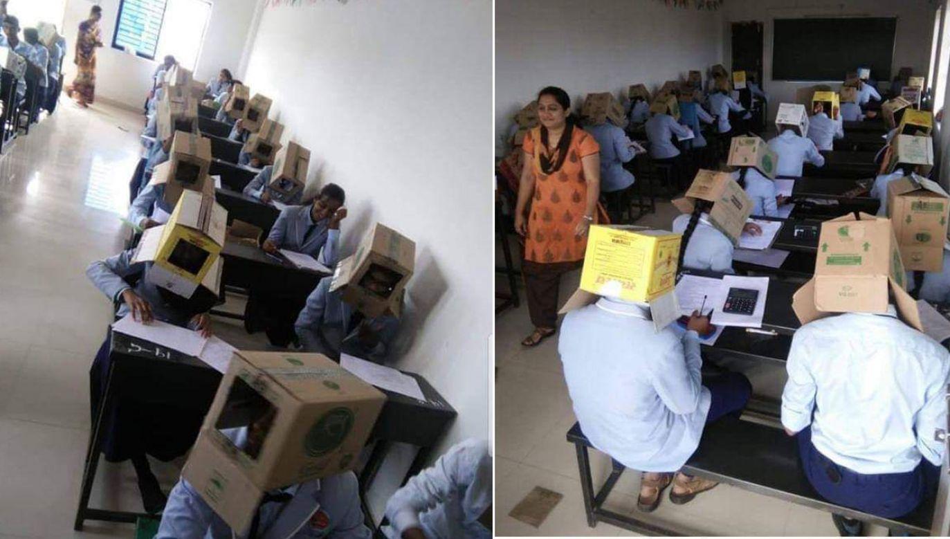 """""""Nie było żadnego przymusu. Na zdjęciach widać, że niektórzy uczniowie ich nie nosili"""" (fot. TT/Zahack Tanvir)"""