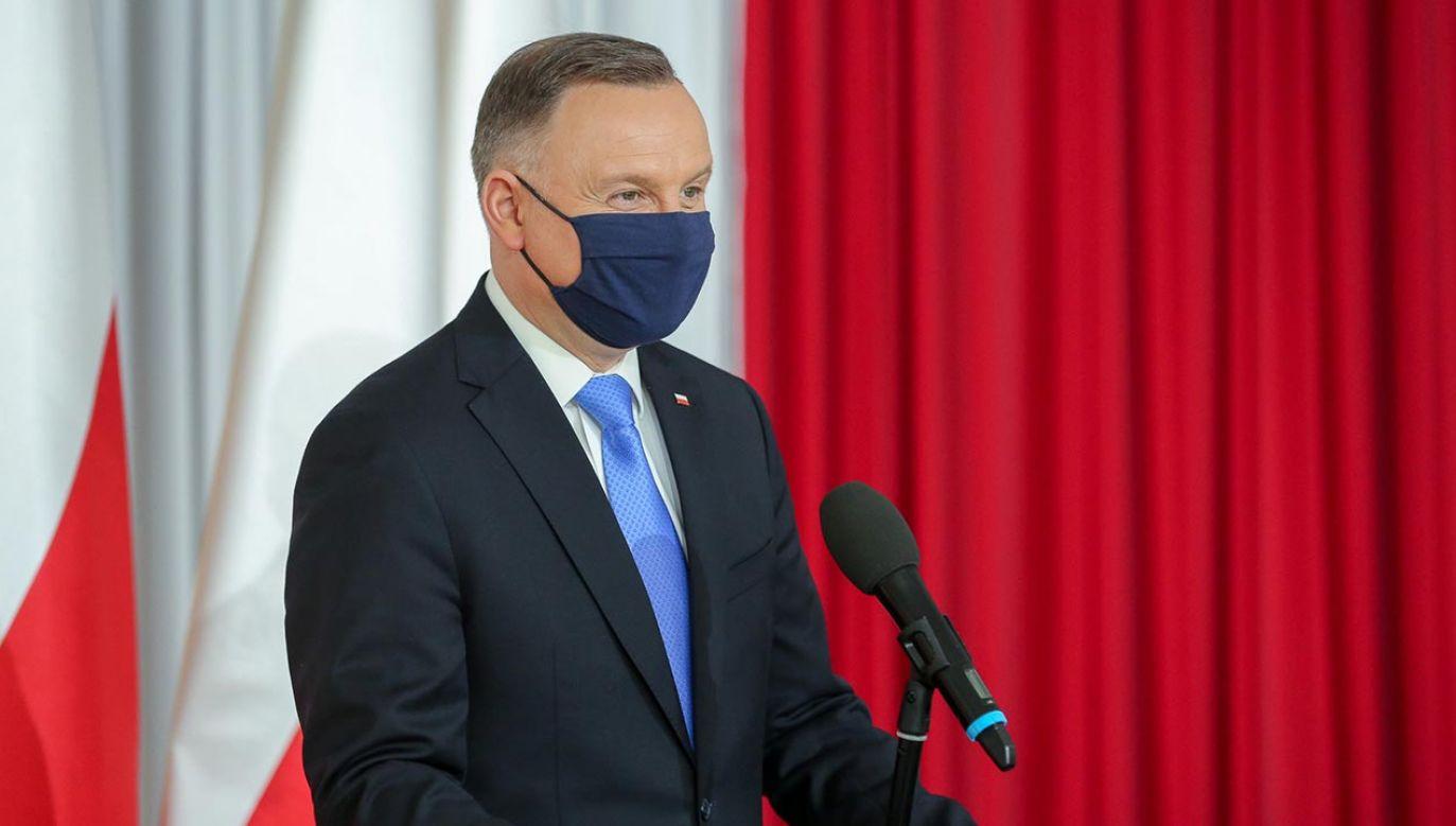 Prezydent wziął udział w uroczystej sesji Rady Miejskiej w Piątku (fot. Krzysztof Sitkowski/KPRP)