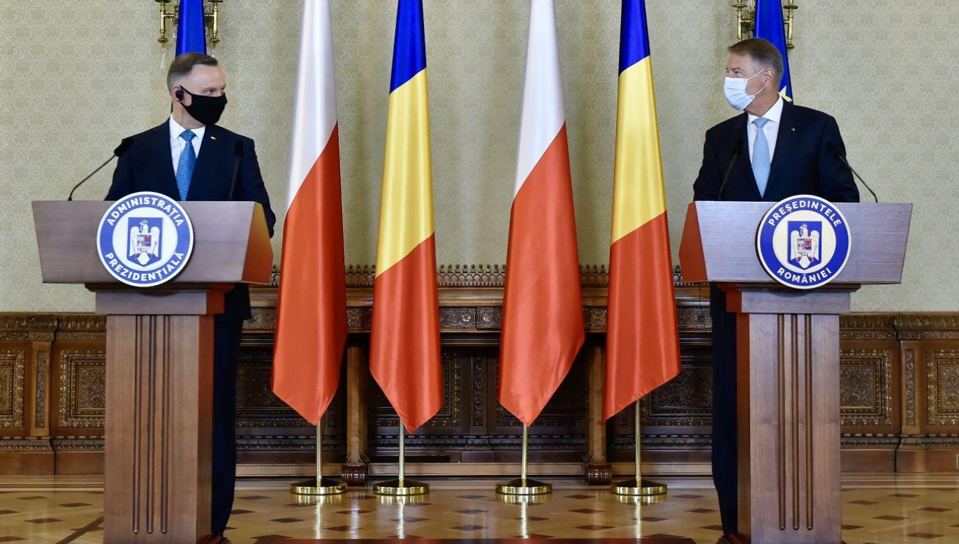 Prezydent Andrzej Duda przebywa w Rumunii (fot. PAP/EPA/SILVIU MATEI HANDOUT)