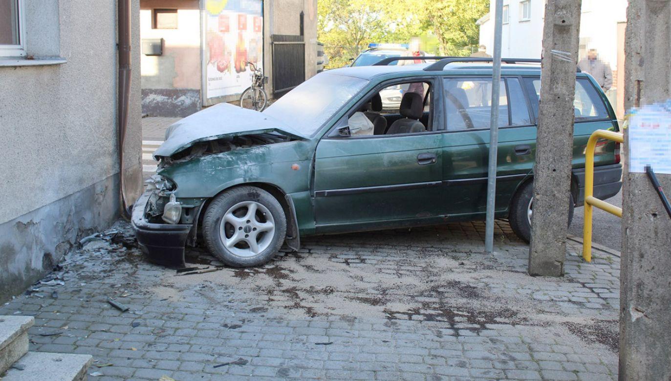 31-latka nie ustąpiła pierwszeństwa przejazdu (fot. Komenda Miejska Policji we Włocławku)