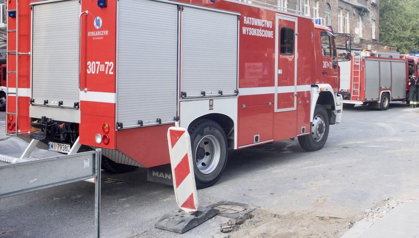Do pomocy wezwani zostali strażacy ze specjalistycznej grupy ratownictwa wysokościowego (fot. arch.PAP/Andrzej Lange, zdjęcie ilustracyjne)