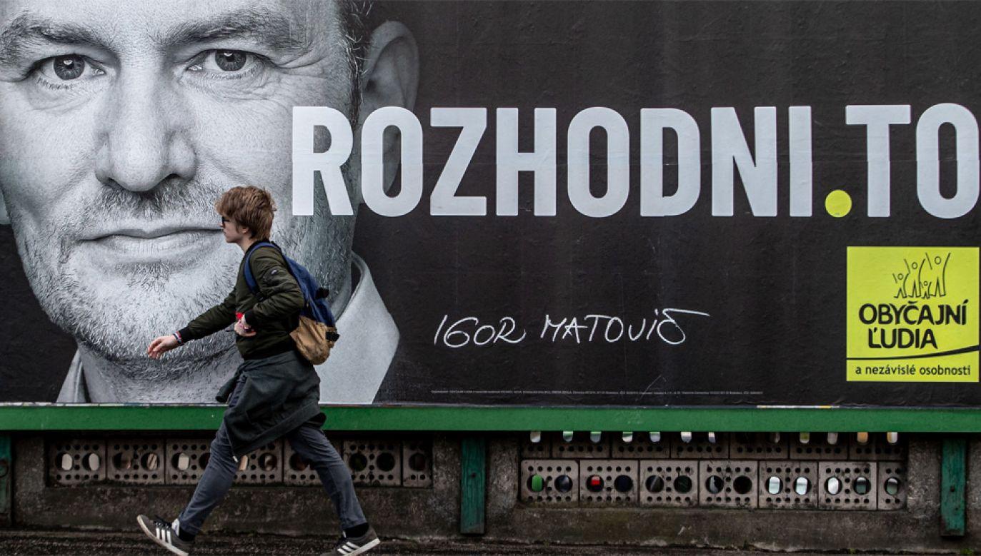 Igor Matovicz może zostać nowym premierem Słowacji (fot. PAP/EPA/MARTIN DIVISEK)