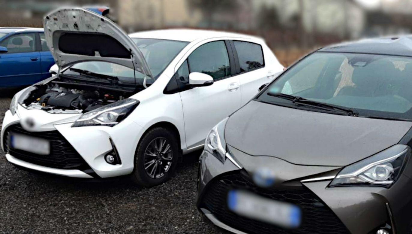 Jeden z odzyskanych samochodów (fot: CBŚP/SG)