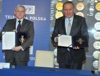 Członek Zarządu TVP Bogusław Piwowar (L) i prezes PKOL Andrzej Kraśnicki (fot. Jan Bogacz)