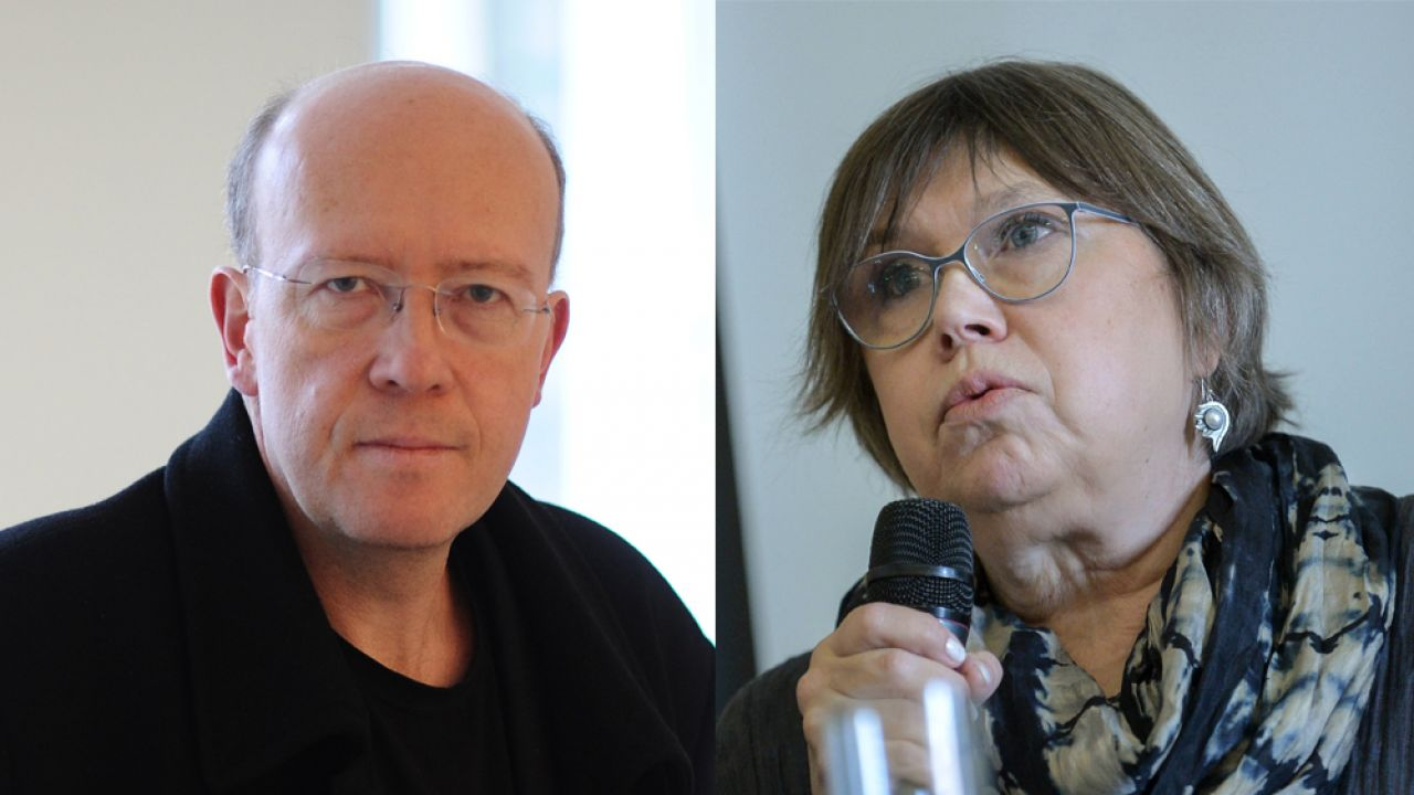 Dr Jan Grabowski i prof. Barbara Engelking  (fot. arch. PAP/Jacek Turczyk / arch. PAP/Marcin Obara)
