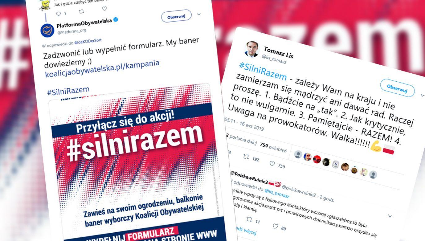 Pod hasztagiem publikowano agresywne wpisy. Zdaniem Tomasza Lisa to krytyka, nie hejt (fot. TT/PlatformaObywatelska)