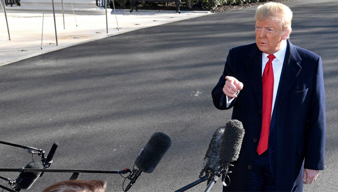 Prezydent USA Donald Trump (fot. PAP/EPA/MIKE THEILER / POOL)