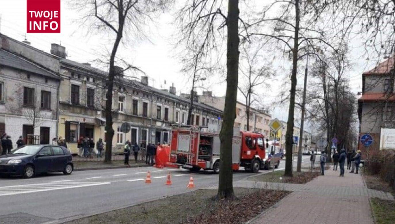 Do wypadku doszło w Żyrardowie na przejściu dla pieszych (fot. Twoje Info)