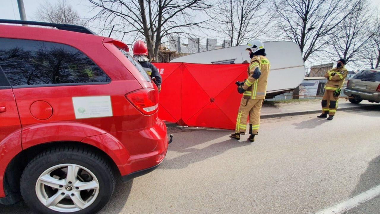 Kobiety nie udało się uratować (fot. Facebook/KP PSP w Chojnicach)