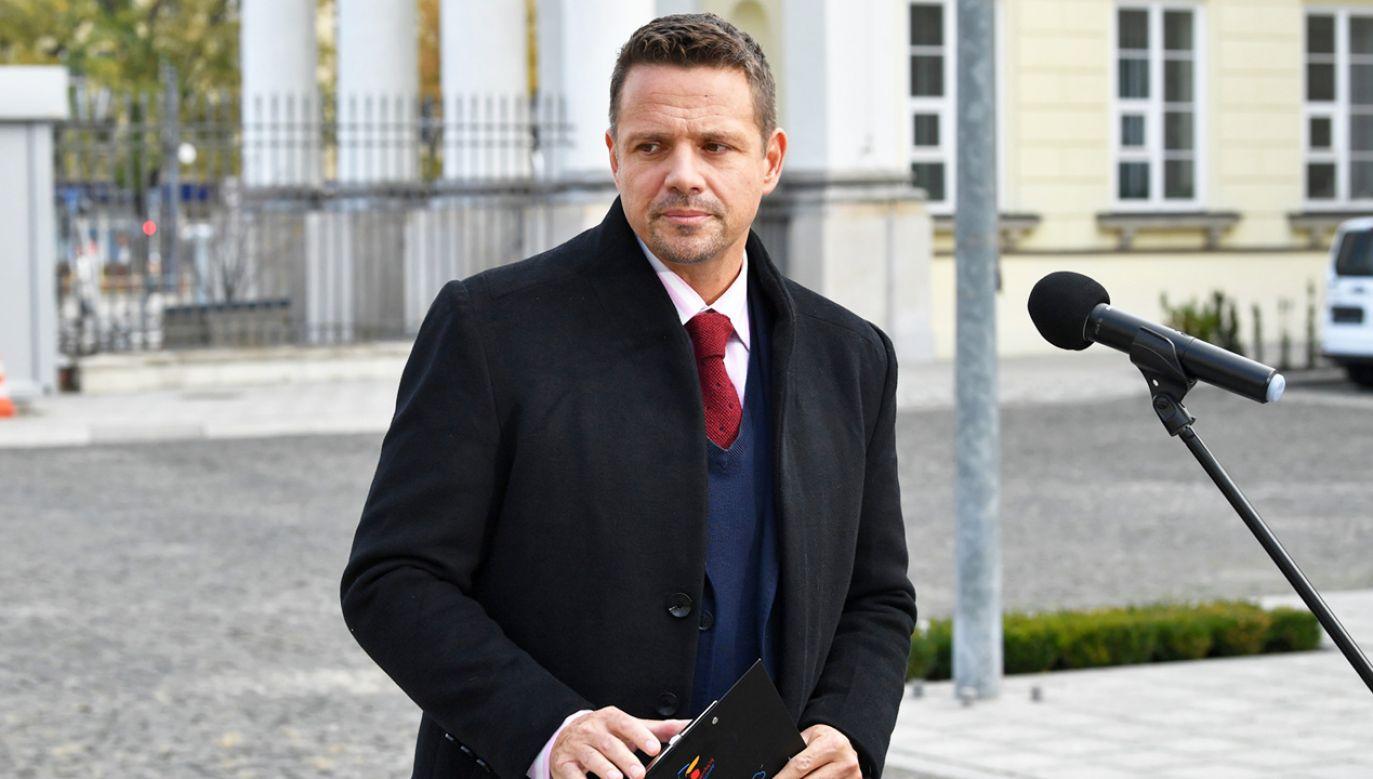 Rafał Trzaskowski o Marszu Niepodległości (fot. PAP/Radek Pietruszka)