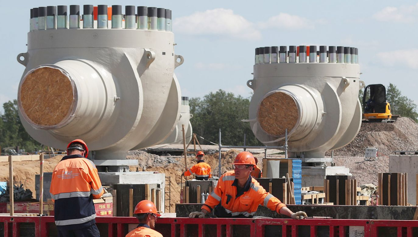 Robotnicy na budowie rurociągu Nord Stream 2 w pobliżu Kingisepp w obwodzie leningradzkim (fot. REUTERS/Anton Vaganov)