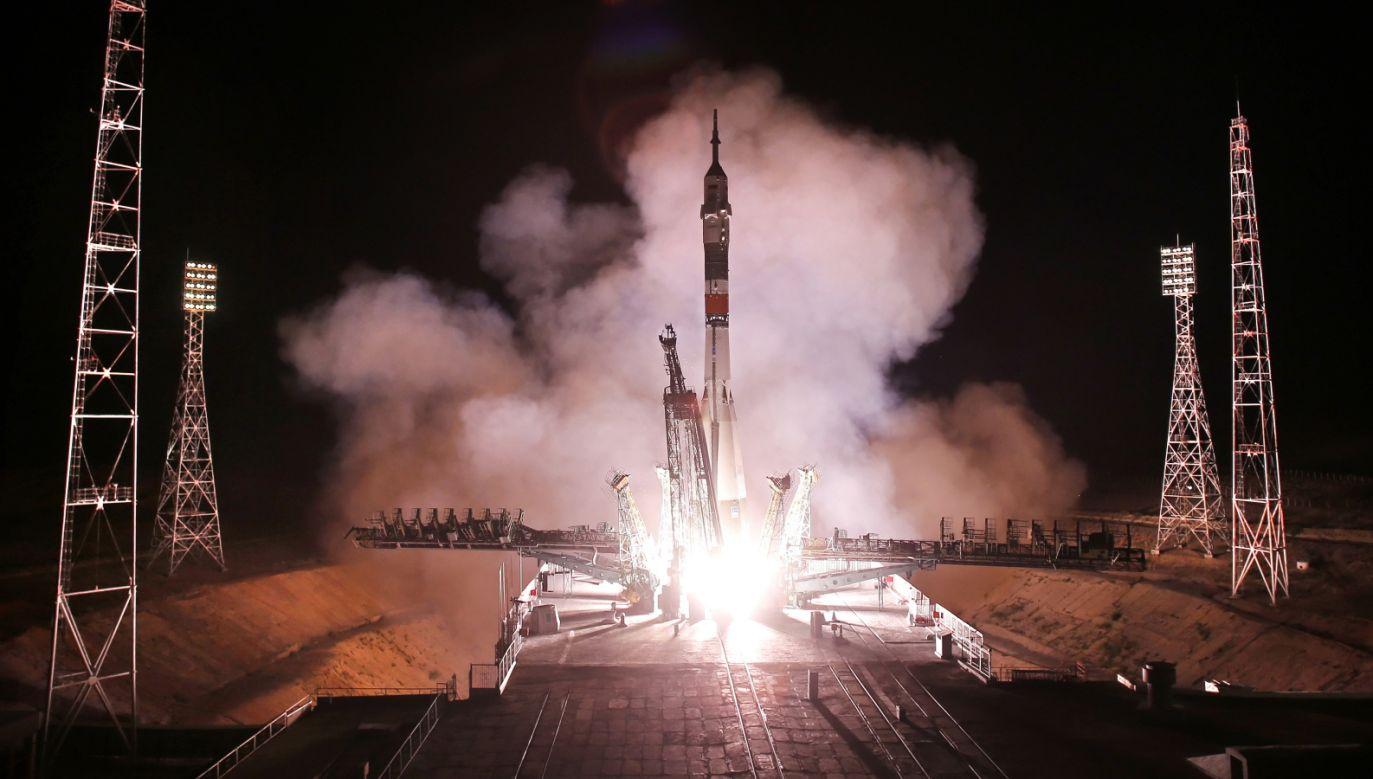 Start rosyjskiego statku Sojuz MS-13 z kosmodromu w Kazachstanie (fot. PAP/EPA/YURI KOCHETKOV)