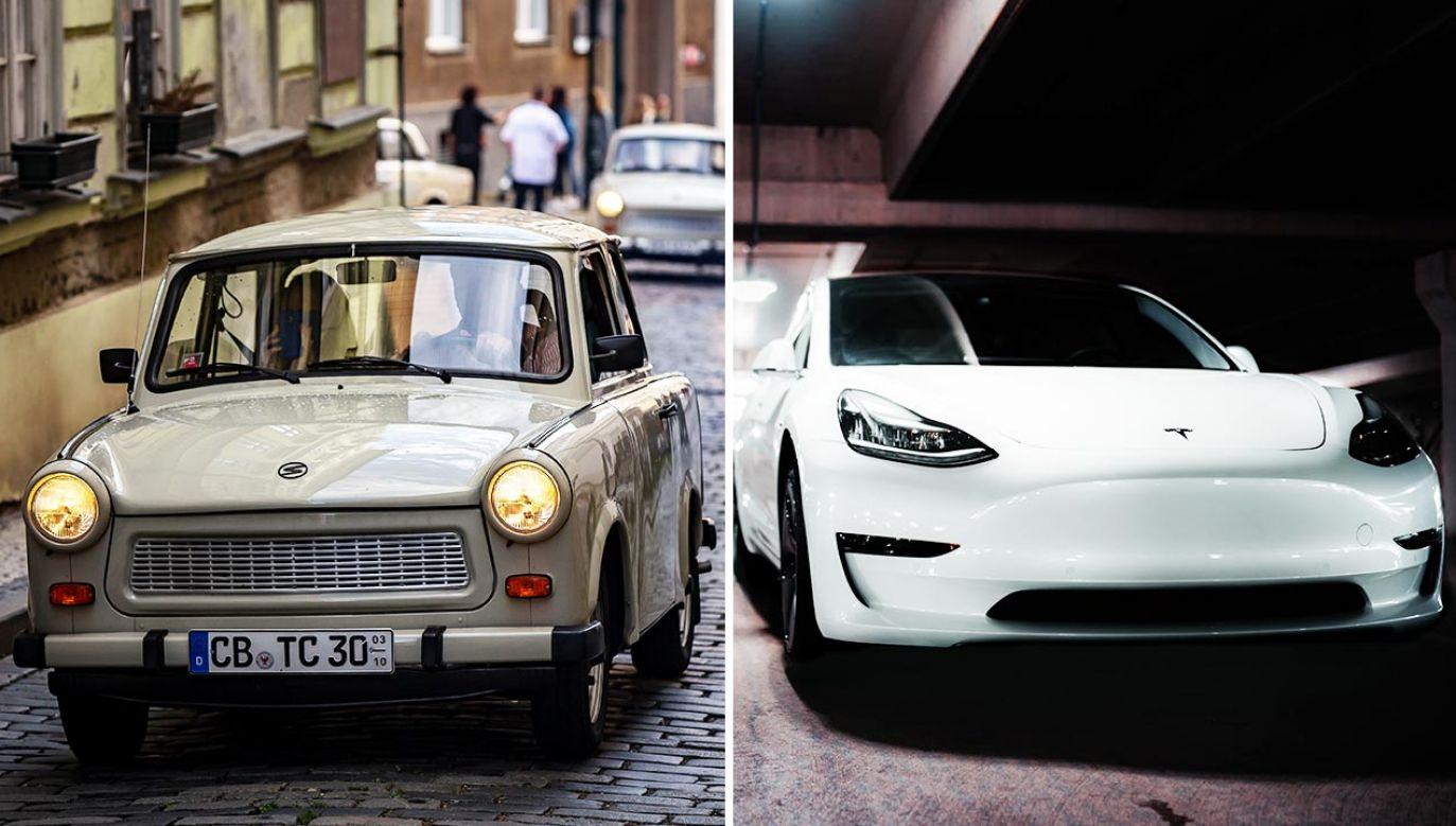 W ciągu dekady liczba trabantów (z lewej) w Niemczech wzrosła o 3 tys. sztuk (fot. Gabriel Kuchta/Getty Images; Shutterstock/canadianPhotographer56)