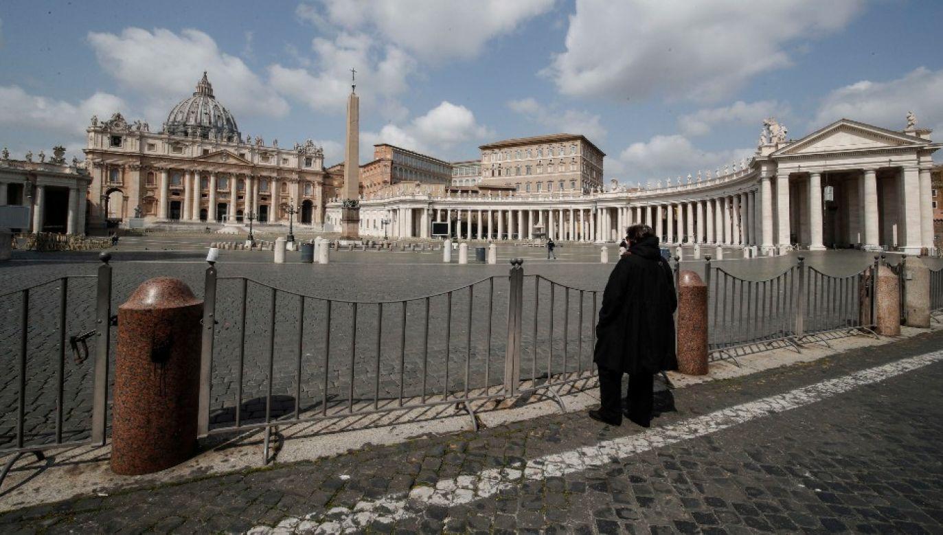 W Watykanie przeprowadzono 170 testów na obecność koronawirusa (fot. PAP/EPA/GIUSEPPE LAMI)