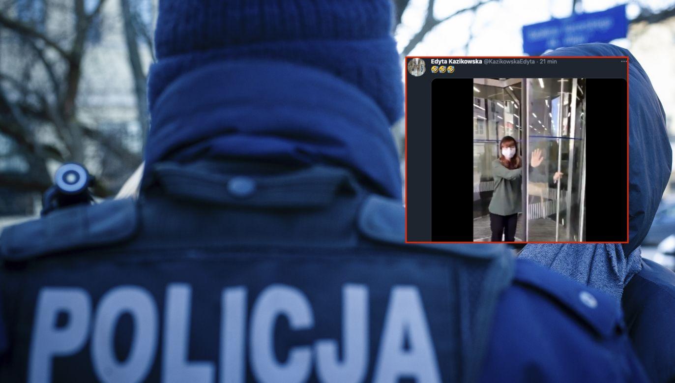 Niecodzienne zdarzenie w Warszawie (fot. Piotr Lapinski/NurPhoto via Getty Images, Twitter.com/edytakazikowska)