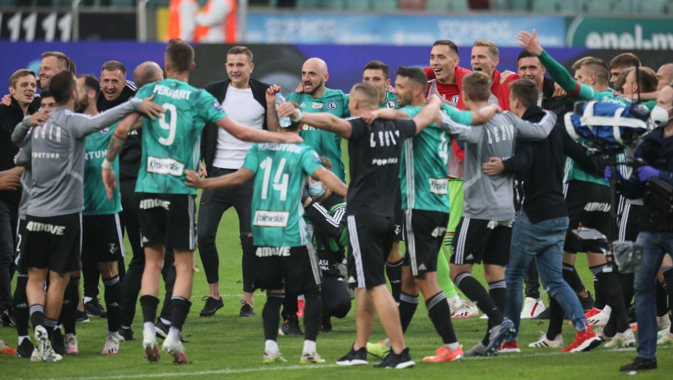 Warszawska drużyna wygrała u siebie z Cracovią 2:0 (fot. PAP/Leszek Szymański)