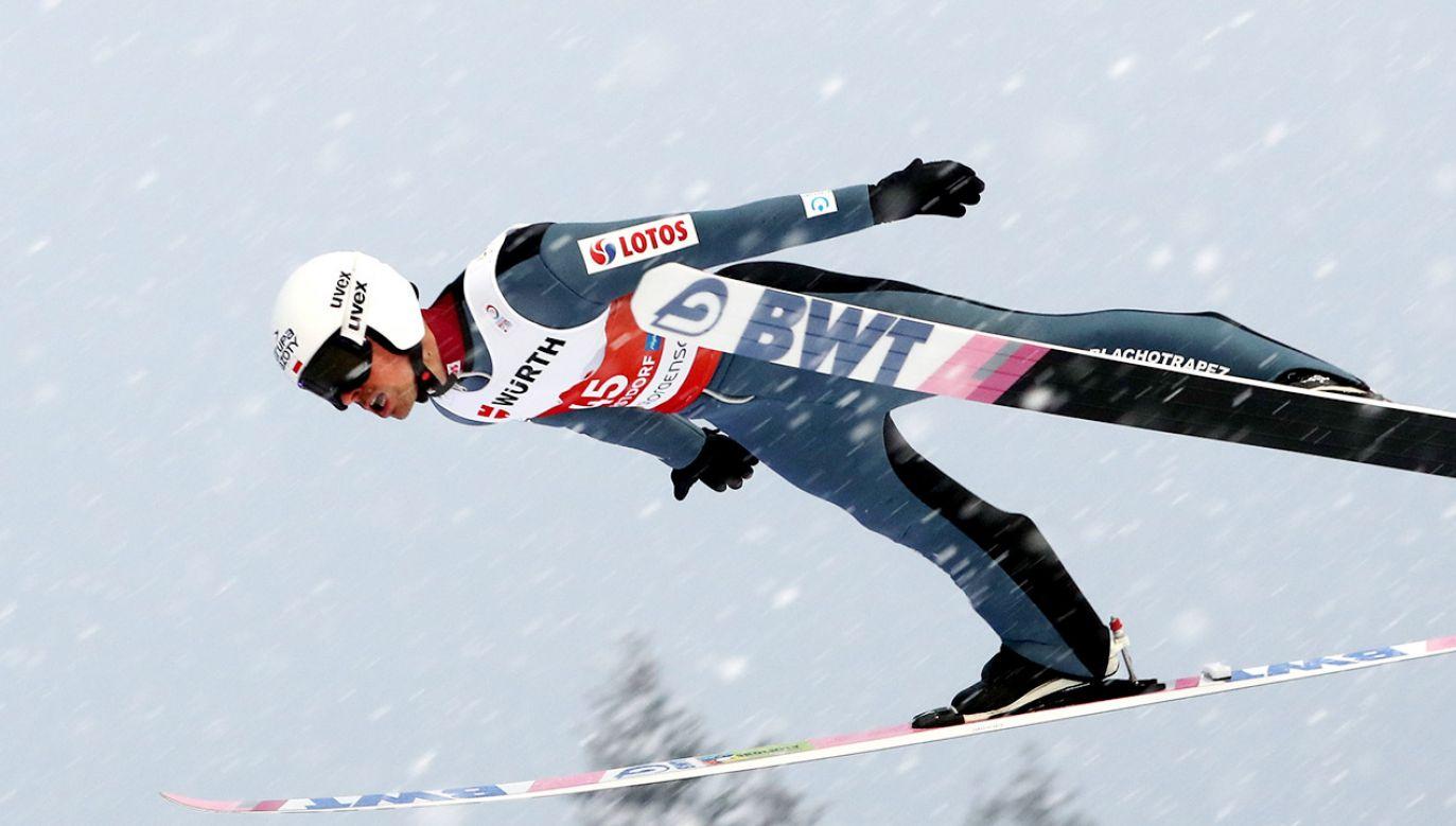 Piotr Żyła przegrał brązowy medal o trzy punkty (fot. PAP/Grzegorz Momot)