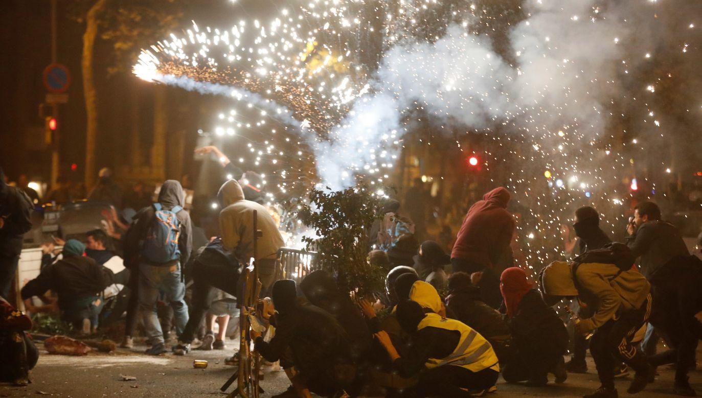 Strajk generalny w Katalonii jest efektem wyroku Sądu Najwyższego w Madrycie(fot. PAP/EPA/Toni Albir)