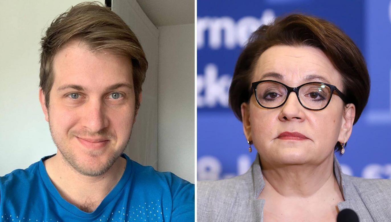 Michael Bloss i Anna Zalewska (fot. Facebook/Michael Bloss; PAP/Rafał Guz)