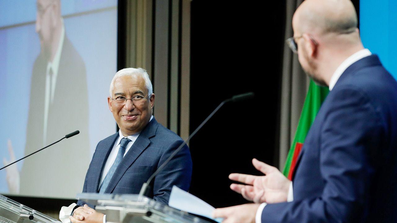 Antonio Costa wypowiedział się nt. unijnego budżetu (fot. PAP/EPA/STEPHANIE LECOCQ / POOL)