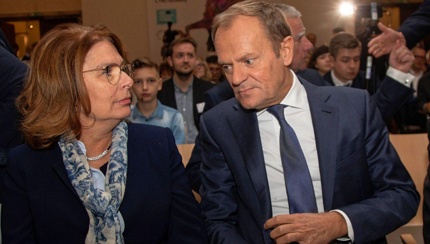 Zaangażowanie b. premiera Donalda Tuska w kampanię wyborczą Małgorzaty Kidawy-Błońskiej zapowiedział szef PO Borys Budka  (fot. arch.PAP/Jan Graczyński)
