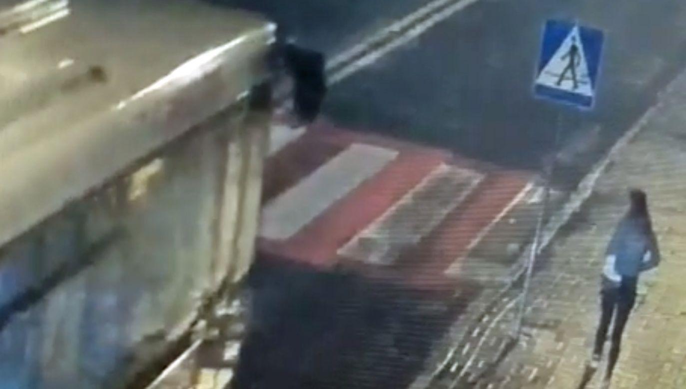 Policja opublikowała ku przestrodze nagranie z wypadku (fot. Policja Śląska)