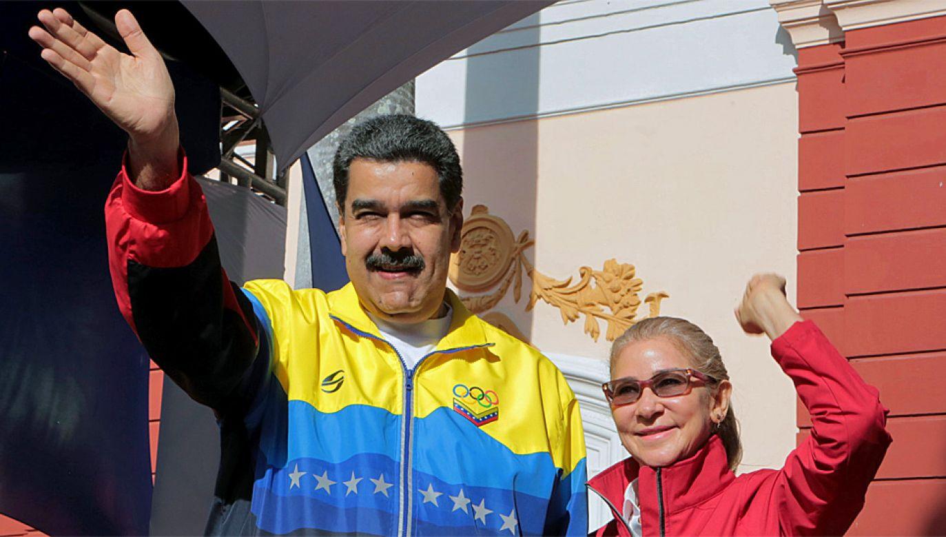 Prezydent Wenezueli Nicolas Maduro jest oskarżany o łamanie praw człowieka (fot. PAP/EPA/MIGUEL GUTIERREZ HANDOUT)