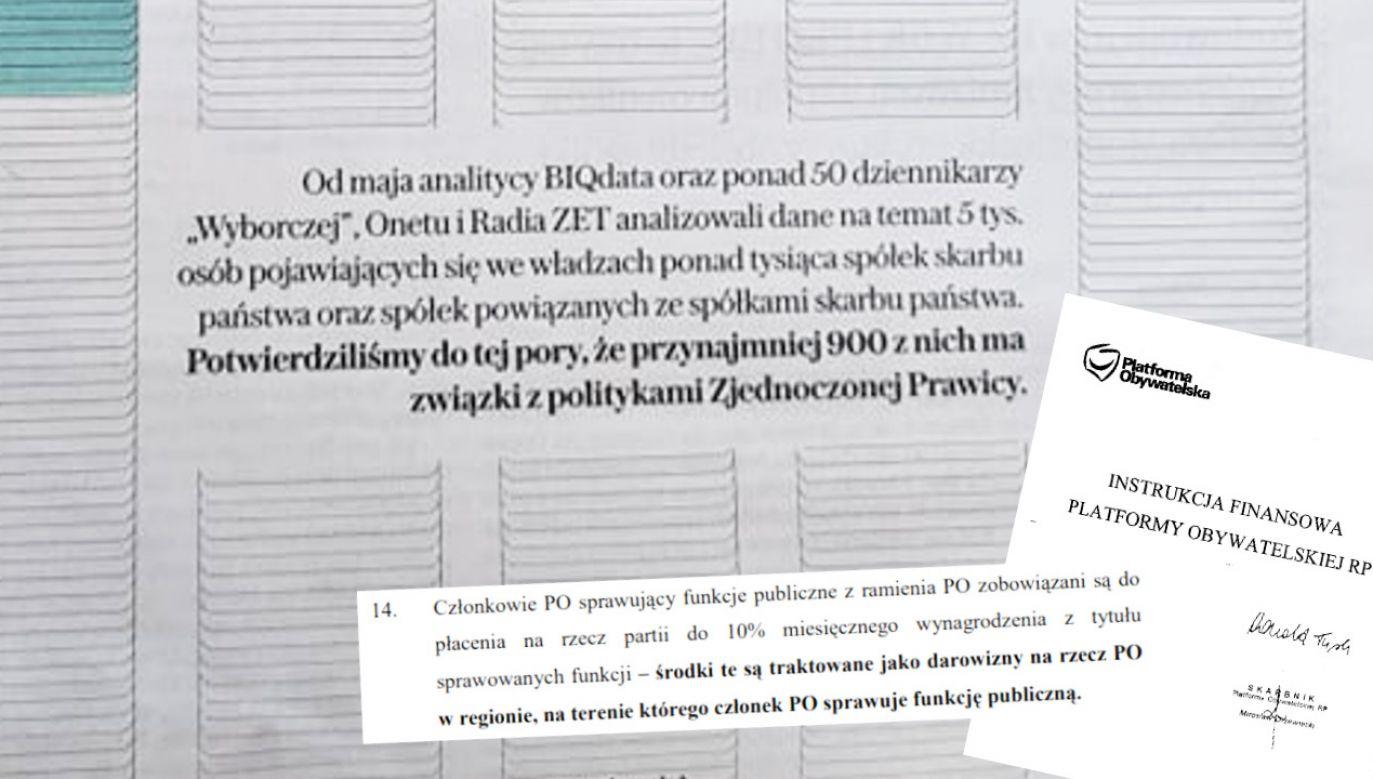 Dziennikarze analizowali dane osób we władzach spółek skarbu państwa (fot. Tvp Info)
