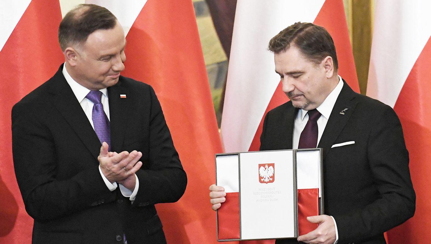 Prezydent zwrócił uwagę, że spotkanie odbywa się w miejscu wyjątkowym, historycznym (fot. PAP/Piotr Nowak)