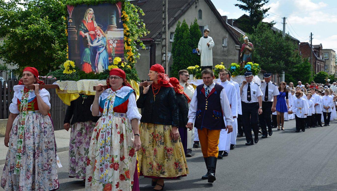 Boże Ciało zawsze przypada 60 dni po Wielkanocy (fot. Wiki 4.0/Regionalny Instytut Kultury w Katowicach)
