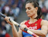 Jelena Isinbajewa, caryca tyczki, została pokonana przez dwie zawodniczki i zdobyła brązowy medal (fot. PAP/EPA)