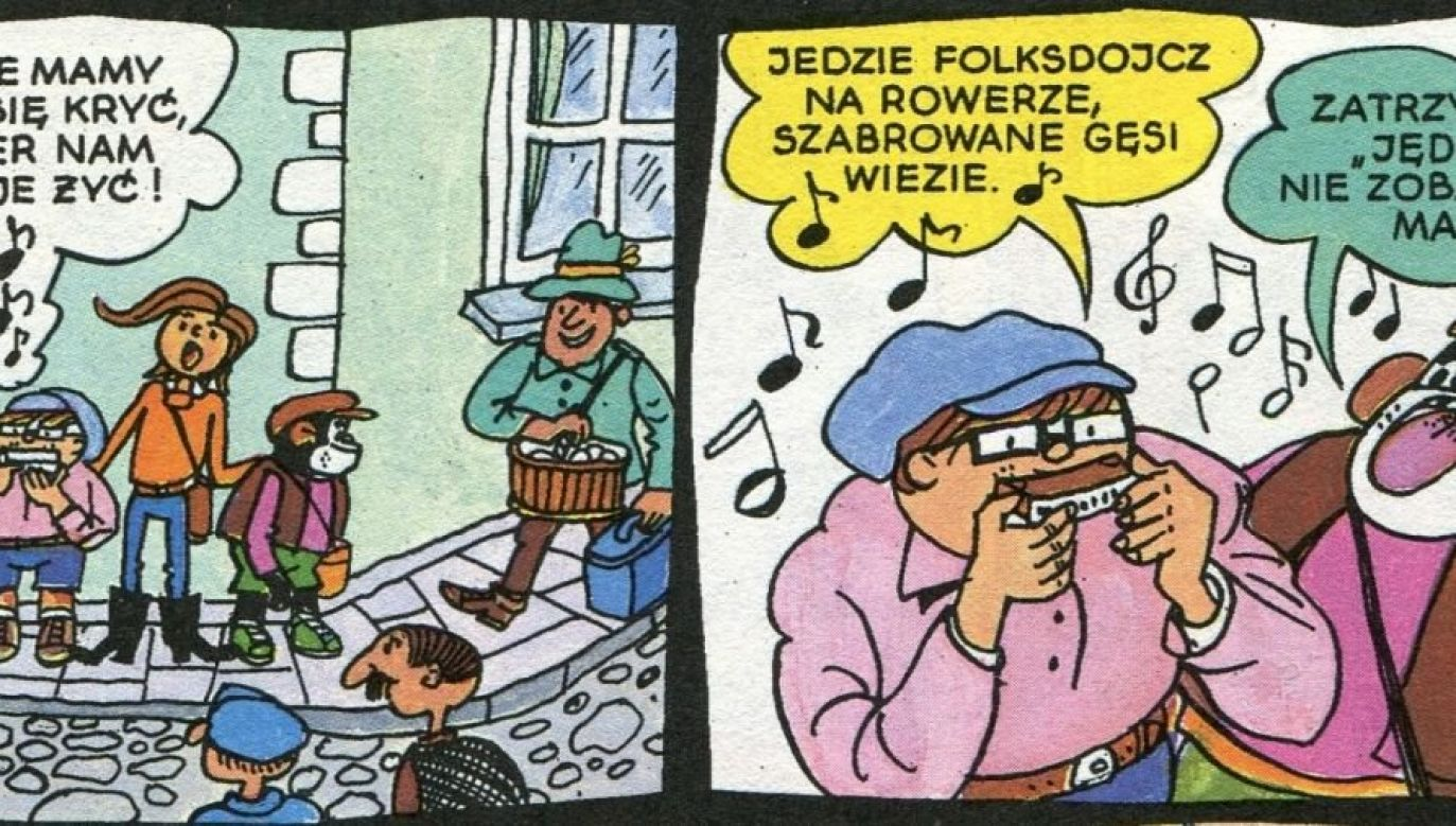 Fragment komiksu o Tytusie, Romku i A'Tomku (fot. ec1lodz.pl)