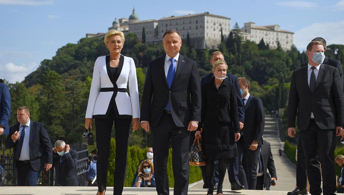 Andrzej Duda wraz z małżonką kontynuuje wizytę we Włoszech (fot. PAP/Piotr Nowak)