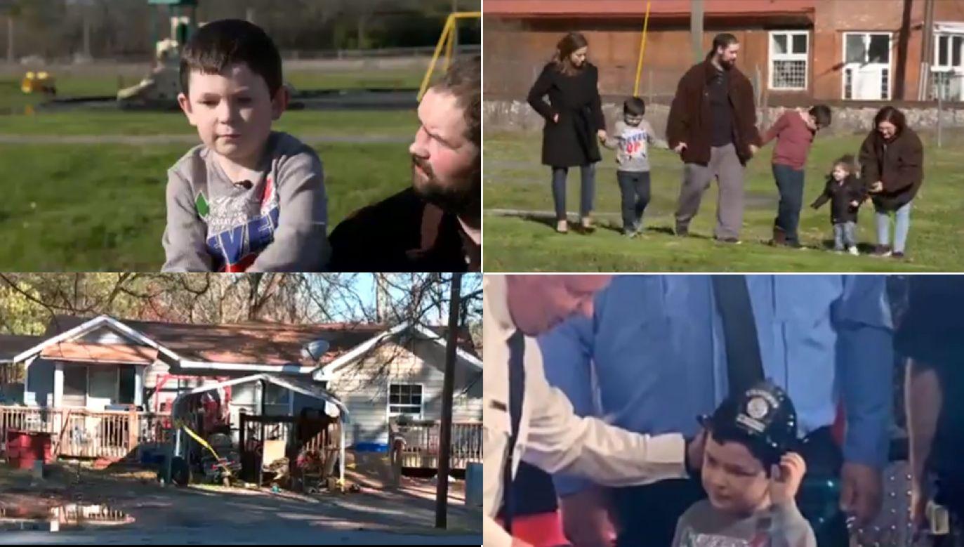 5-letni Noah w niedzielę uratował z pożaru swoją 8-osobową rodzinę (fot. Twitter/@NYDailyNews)