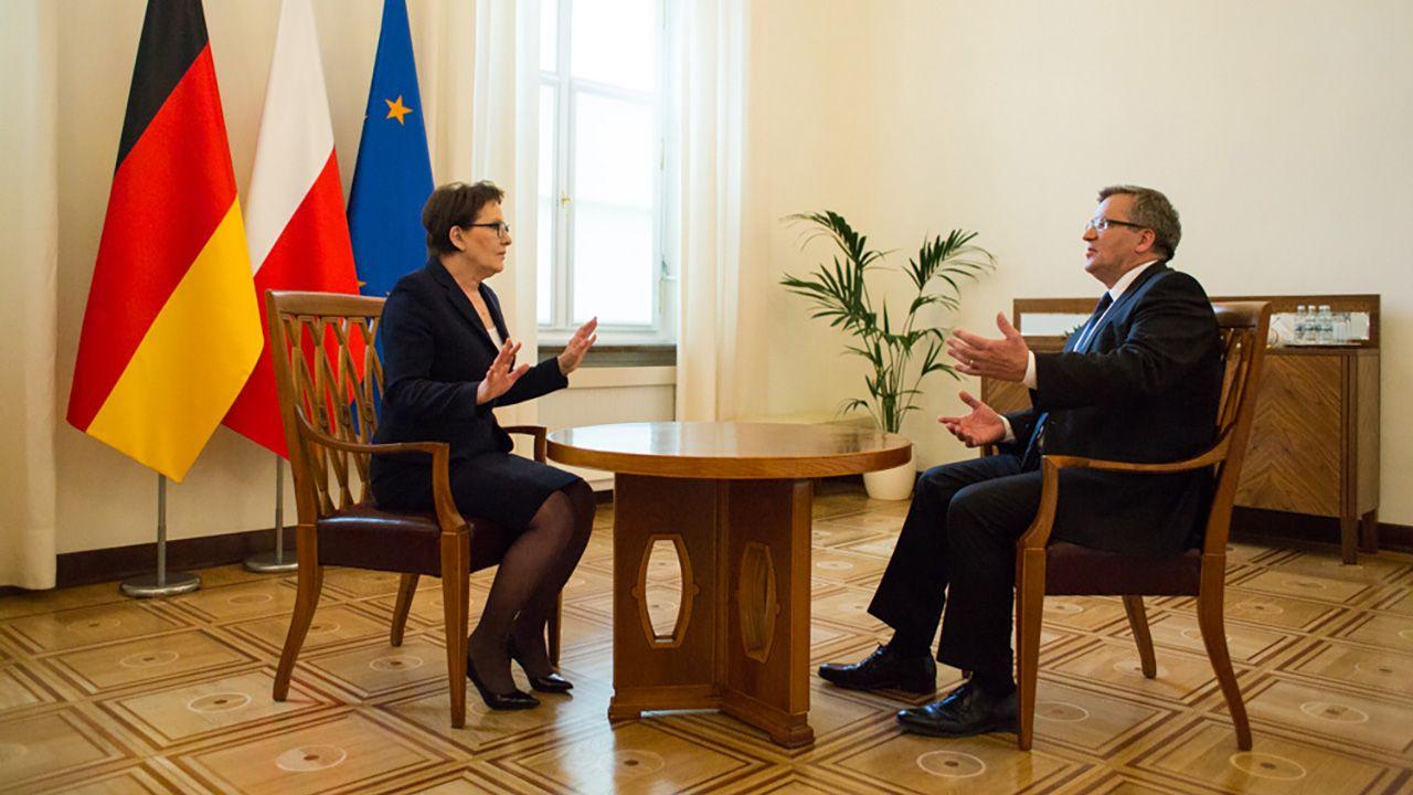 Była premier Ewa Kopacz i były prezydent Bronisław Komorowski chcą zasiąść w ławach PE (fot. prezydent.pl)
