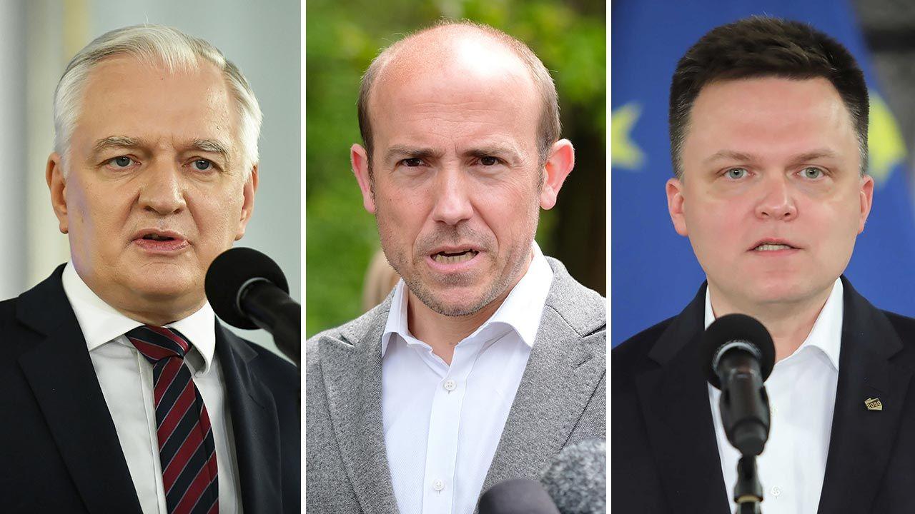 Jarosław Gowin, Borys Budka, Szymon Hołownia (fot. PAP/Marcin Obara, Andrzej Grygiel, Wojciech Olkuśnik)