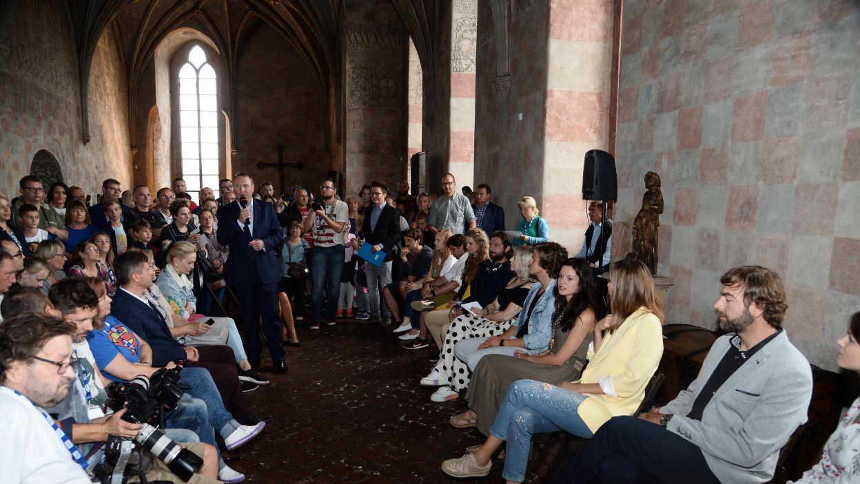 Gwiazdy serialu tłumnie zjawiły się na spotkaniu z widzami (fot. J. Bogacz/TVP)