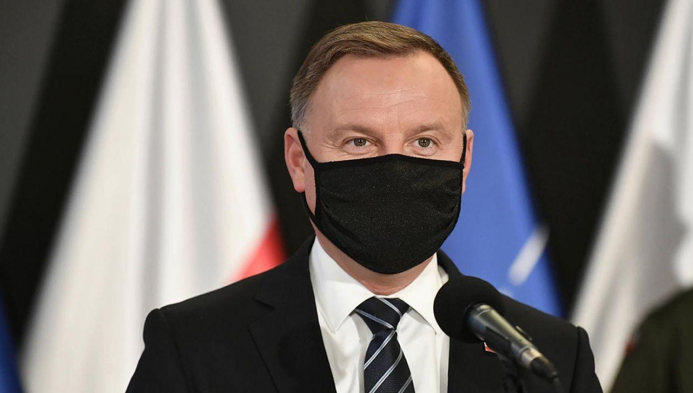 Prezydent Andrzej Duda (fot. PAP/Marcin Obara)