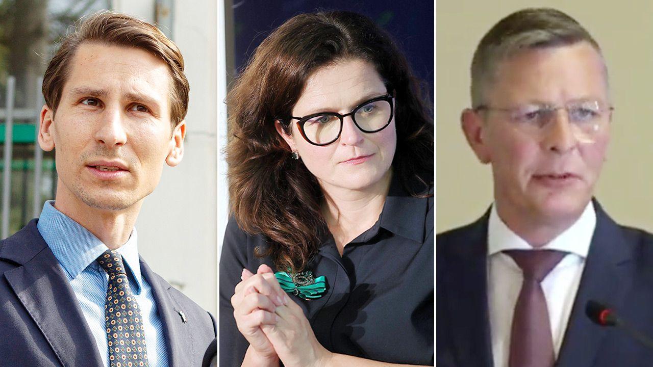 Kacper Płażyński, Aleksandra Dulkiewicz, Frank Imhoff (fot. PAP/Jan Dzban, Łukasz Gągulski; Sesja Rady Miasta Gdańska)