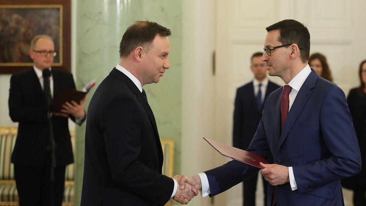 Prezydent Andrzej Duda desygnuje Mateusza Morawieckiego na Prezesa Rady Ministrów (fot. PAP/Paweł Supernak)