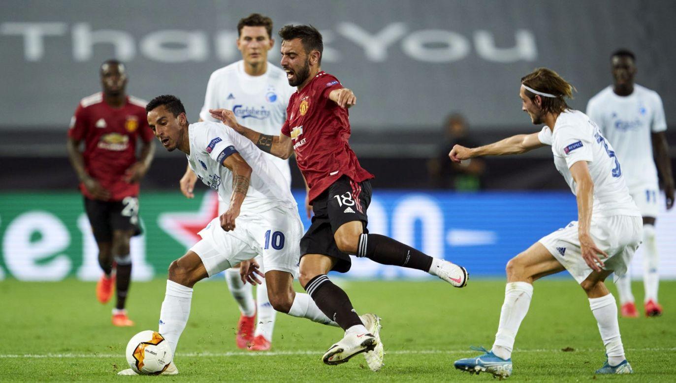 Liga Europy: Manchester United – FC Kopenhaga. Bruno Fernandes (fot. Getty)