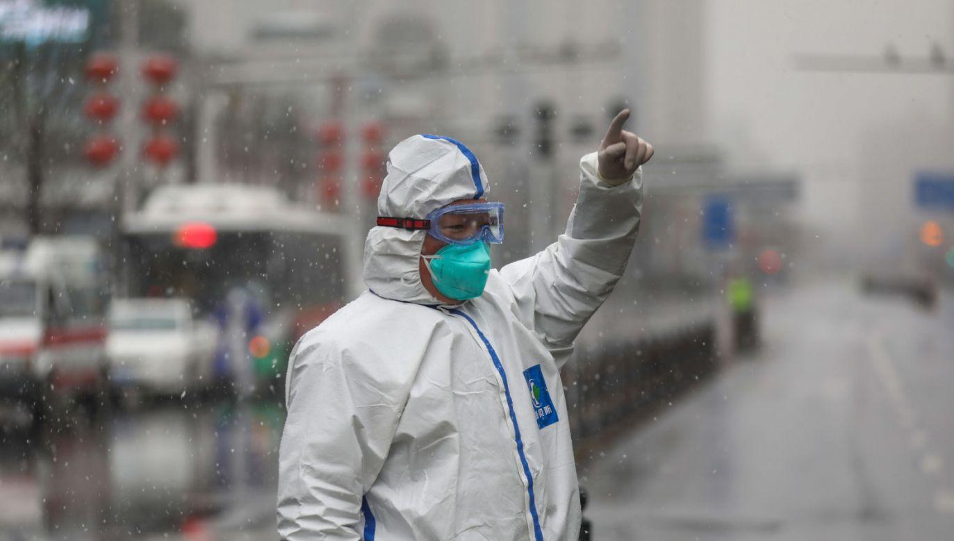 Ogółem w Chinach do tej pory zostało zarażonych ponad 68 000 osób (fot. PAP/EPA/YUAN ZHENG CHINA)