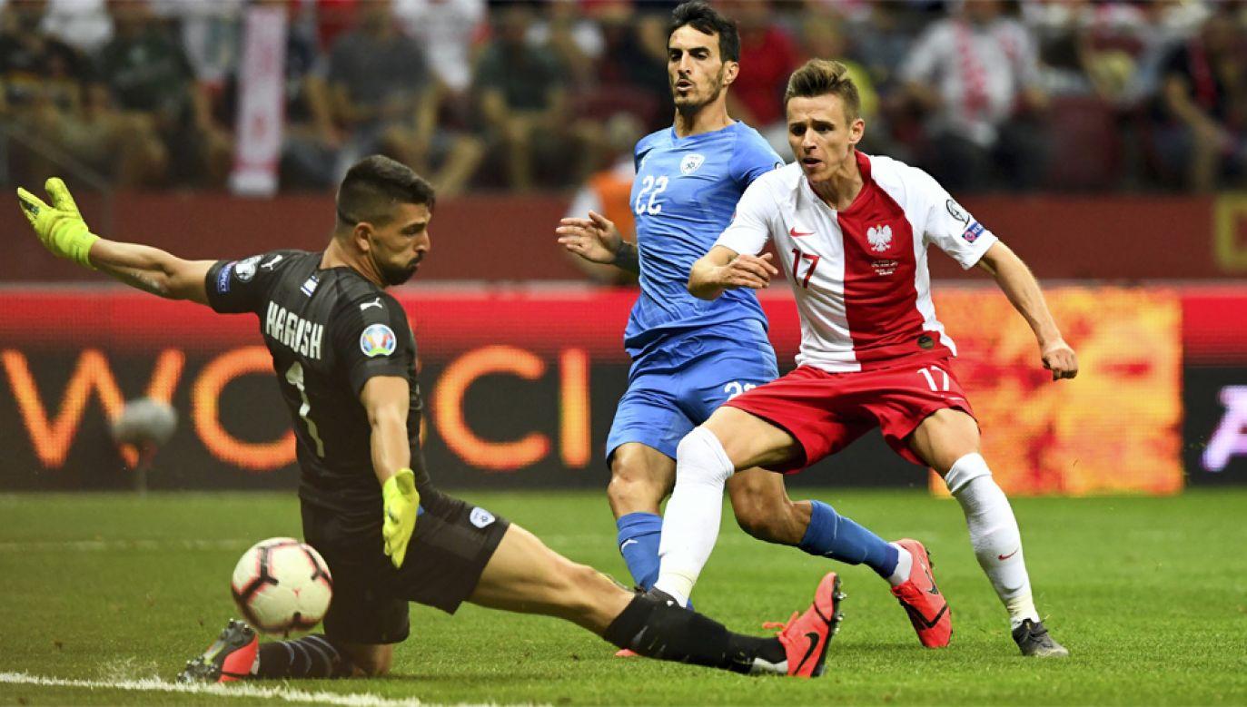 Gola na 4:0 strzelił Damian Kądzior (fot. PAP/Piotr Nowak)
